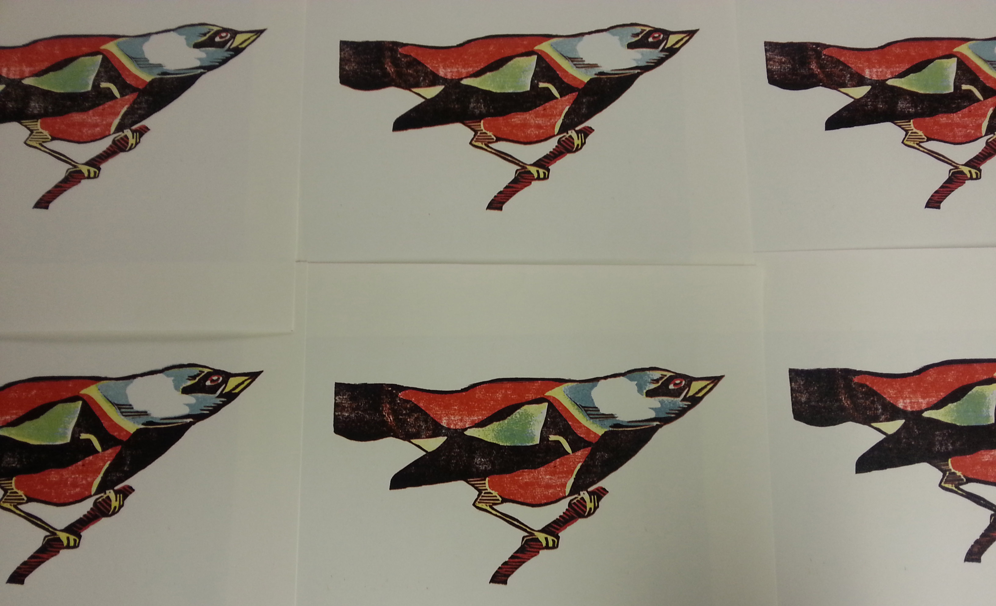 First bird printed.