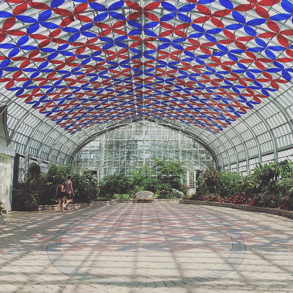 Landscape art under glass
